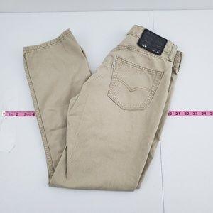 Levi's 514 Chino Khaki pants 30x30 K49
